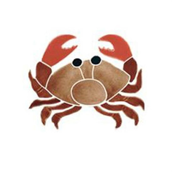 Artistry In Mosaics Aquatic Line Tan Baby Crab Mosaic Tile
