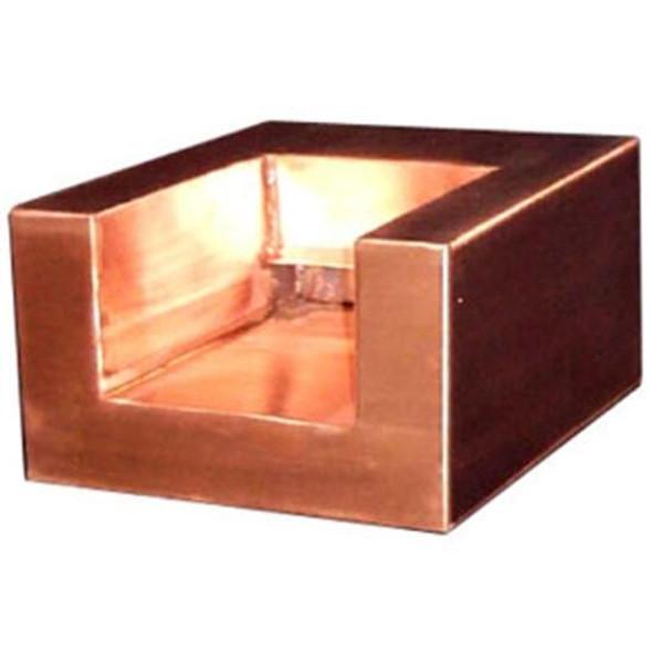 """Bobe Design Series 10"""" U-Shaped Copper Scupper"""