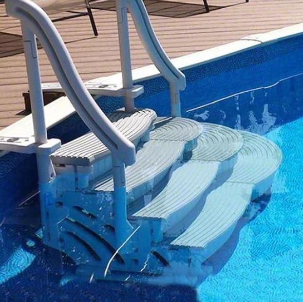 Confer Plastics 4-Step Confer Curve Stairs Add On - CCX-ADD