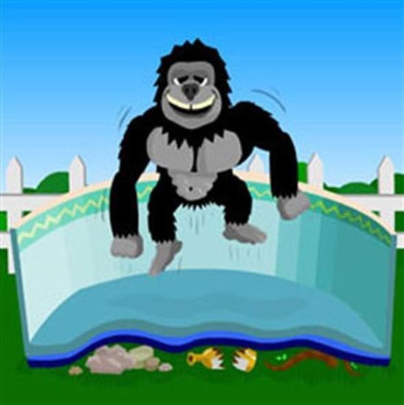 Gorilla Bottom Above-ground Pool Floor Padding 16' x 32' Oval