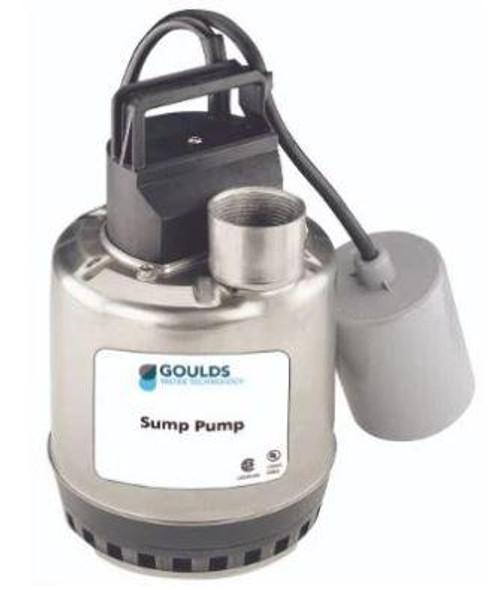 "Goulds 4"" 1 HP 1 Phase 230V 2-Wire Submersible Pump - 25LS10422"