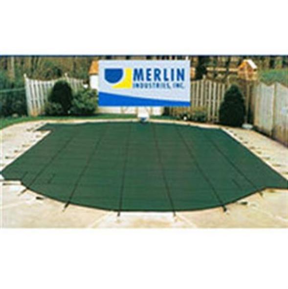 Merlin DuraMesh 16' x 32' Rectangular Safety Cover - Green