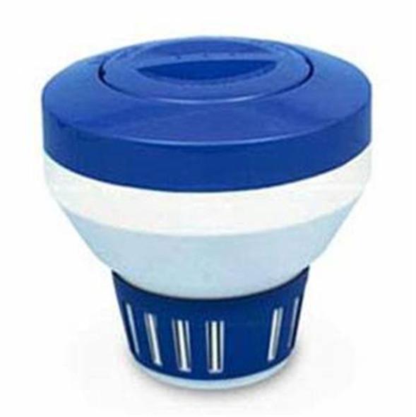 Rainbow Chlorine Bromine Floating Chemical Dispenser - Blue-White