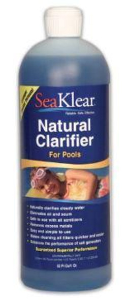 SeaKlear Natural Clarifier Treatment for Pools, 1 Qt - 90402SKR