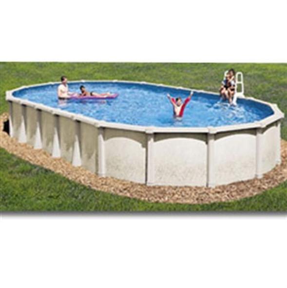 "Tahitian 18' X 33"" Oval 54 Inch Hybrid Pool"