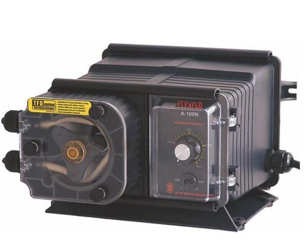 "Blue White FlexFlo A100N Metering Feeder Pump 115V - 7-16"" OD 95.1 GPD Compression Nuts"