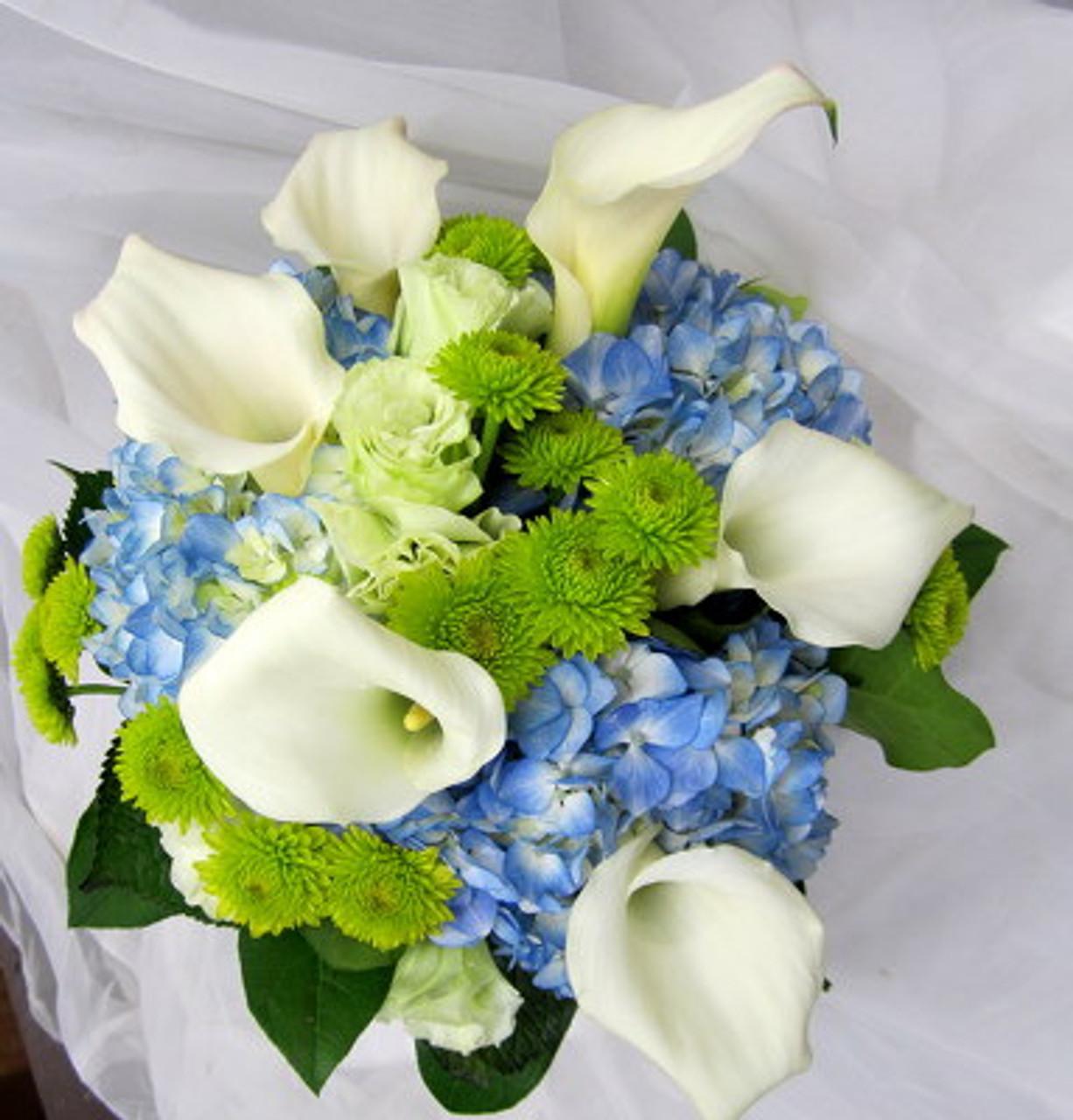 Calla Lilies Hydrangeas