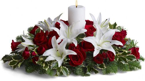 Luminous Lilies Centerpiece
