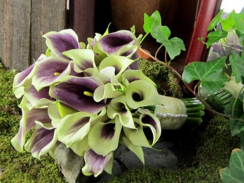 Purple & White Calla Lily Bouqet