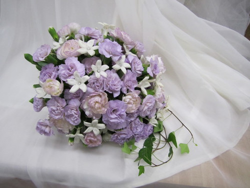 Carnations, Ivy & Stephonotis Bouquet