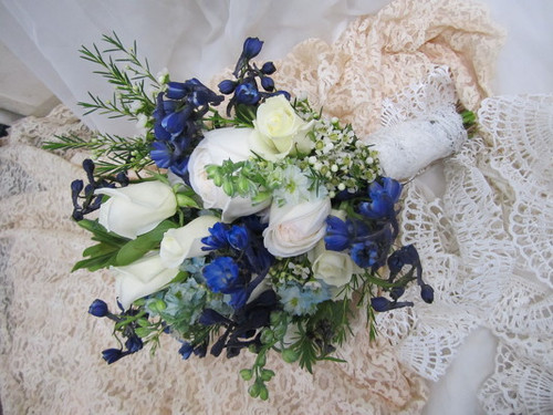 Blue & White Wildflower Bouquet