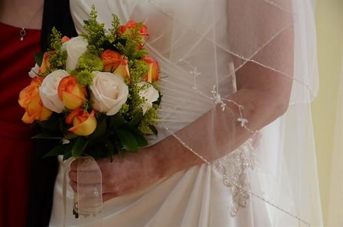 Orange & White Bouquet