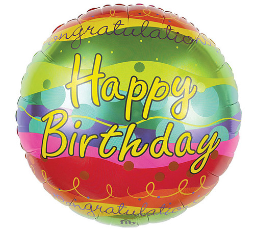 Happy Birthday Congratulations Mylar Balloon