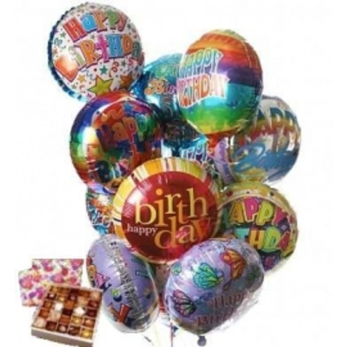 Birthday Balloons & Chocolates