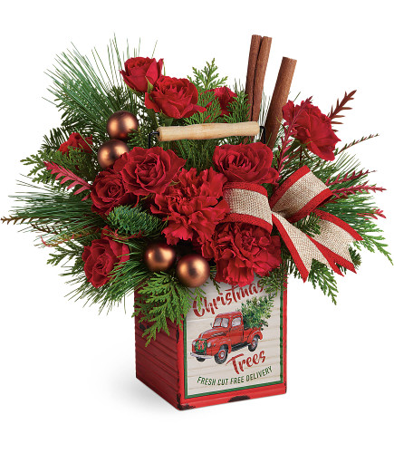 Merry Vintage Christmas Bouquet will bring a smile to their face.