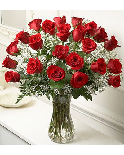 "This special gift of two dozen gorgeous red roses will say ""I Love You So Much!"" Our red roses are spectacular and all our friends and customers tell us we have the longest lasting roses in Burlington. Delivery daily in Vermont."