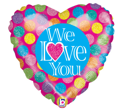 we love you mylar balloon sentiment gift