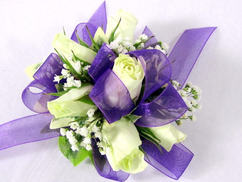 White Roses with Lavender