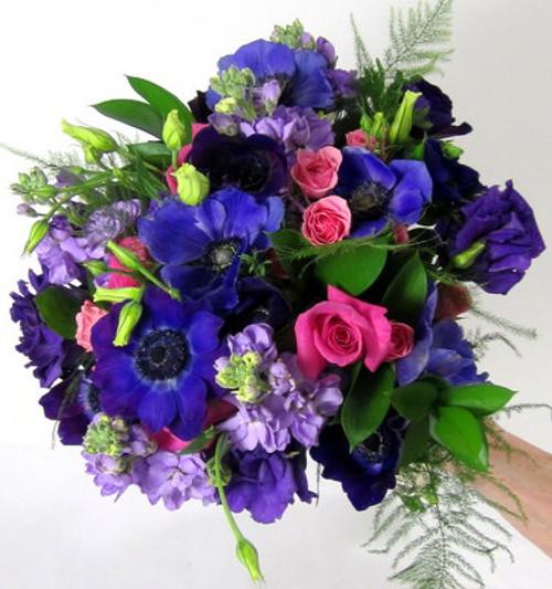 Anemones, Stock, Lisianthus, Spray Roses