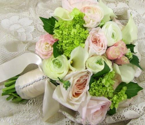 Calla Lilies, Roses, Hydrangea, & Ranunculus Bouquet