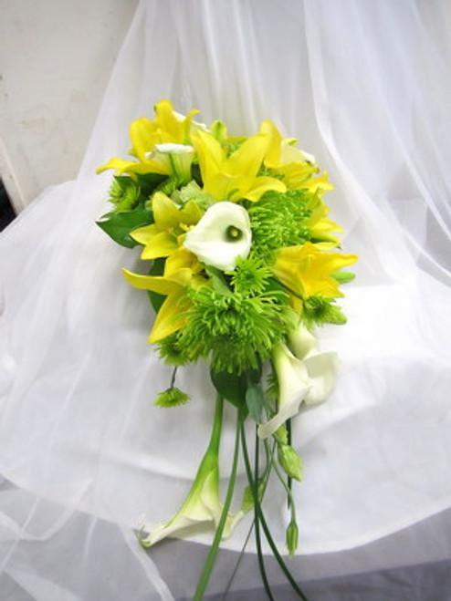 Yellow Lilies & White Calla Lilies