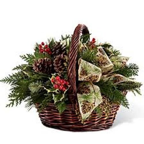 Fresh Evergreen Basket