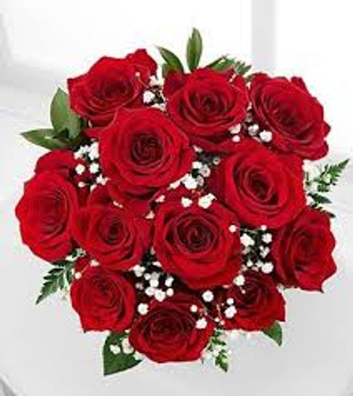 Dozen Red Roses Wrapped-Send Some Love!