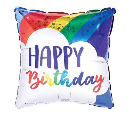 A67066 Birthday Balloons and Stars and Rainbows