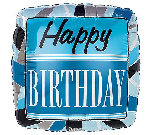 Happy Birthday  Black and Blue