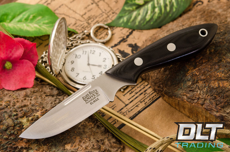 Bark River Knives Adventurer Elmax Black G 10