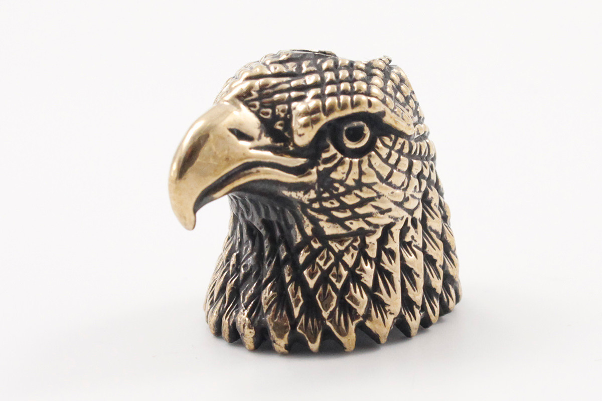 Lion ARMory American Eagle Bead - Brass