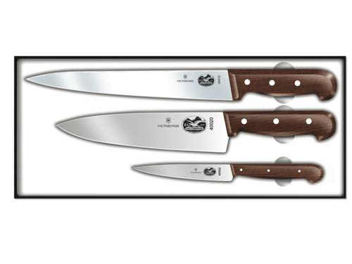 victorinox rosewood knife set 3 piece chef 39 s knife set. Black Bedroom Furniture Sets. Home Design Ideas