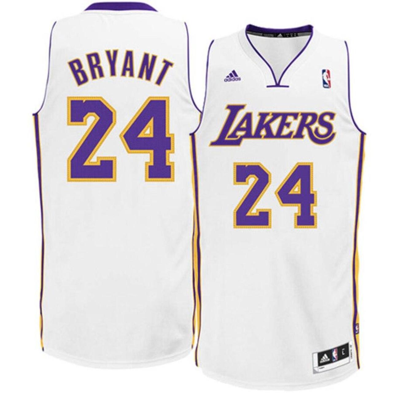 Los Angeles Lakers Kobe Bryant #24 Alternate White Adidas Jersey