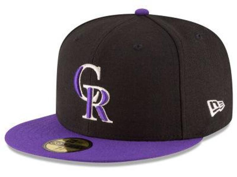 Colorado Rockies Authentic 59Fifty Alternate Black/Purple Game Cap