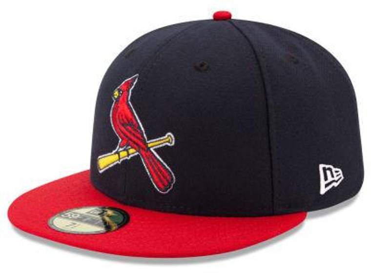 St Louis Cardinals Authentic 59Fifty Navy/Red Game Cap