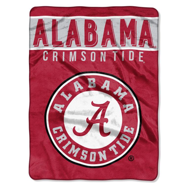 """Alabama Crimson Tide Raschel Basic Design Blanket 60x80"""""""