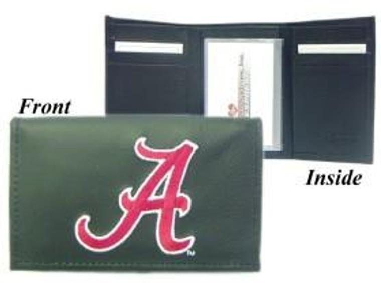 Alabama Crimson Tide Embroidered Leather Tri-Fold Wallet