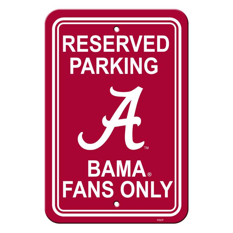 """Alabama Crimson Tide Sign Reserved Parking Sign 12x18"""""""