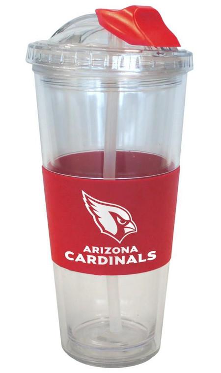 Arizona Cardinals No Spill Straw Tumbler