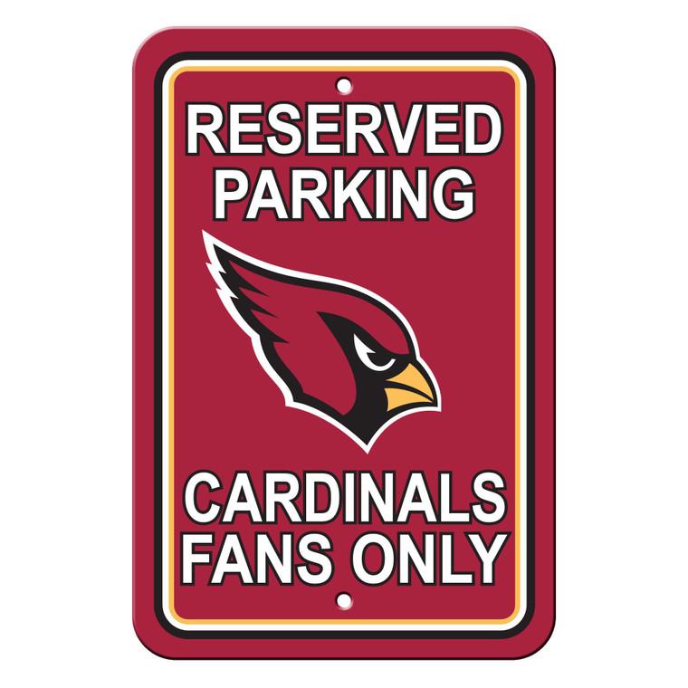 """Arizona Cardinals Sign Reserved Parking Sign 12x18"""""""