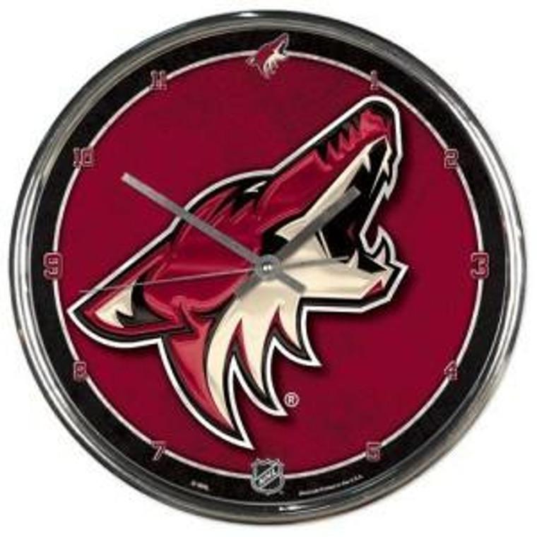 Arizona Coyotes Round Chrome Wall Clock