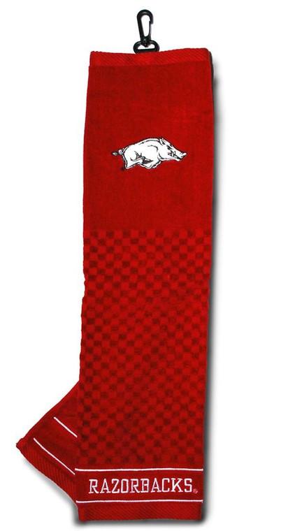 "Arkansas Razorbacks Embroidered Golf Towel 16x22"""