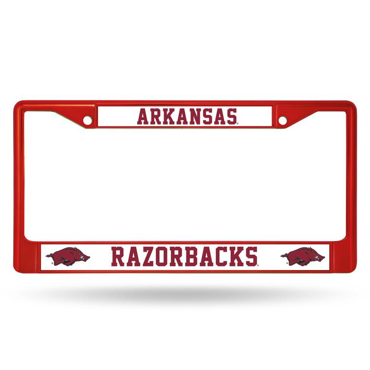 Arkansas Razorbacks Red Metal License Plate Frame
