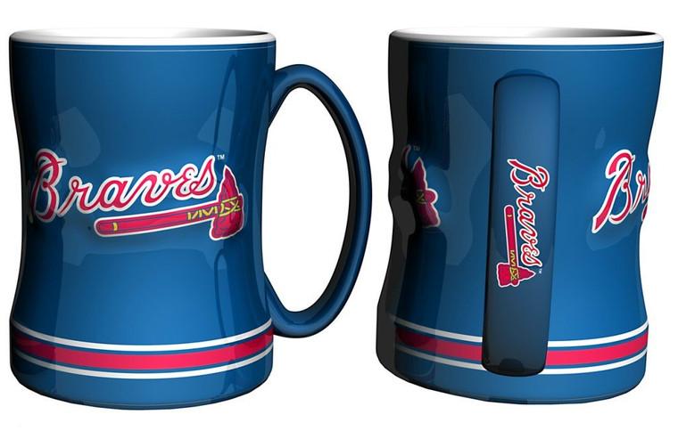 Atlanta Braves Sculpted Relief Coffee Mug 14oz