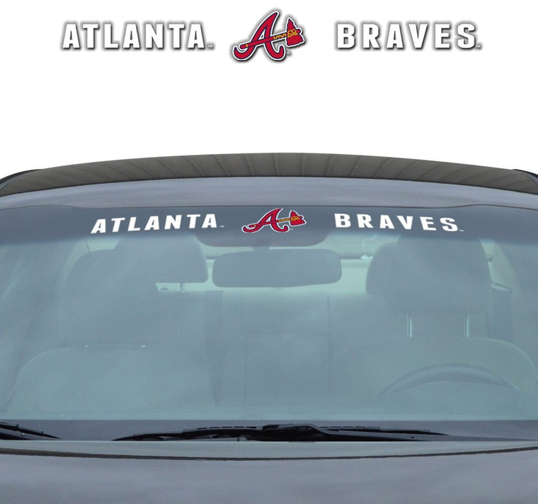 "Atlanta Braves Windshield Decal 35x4"""
