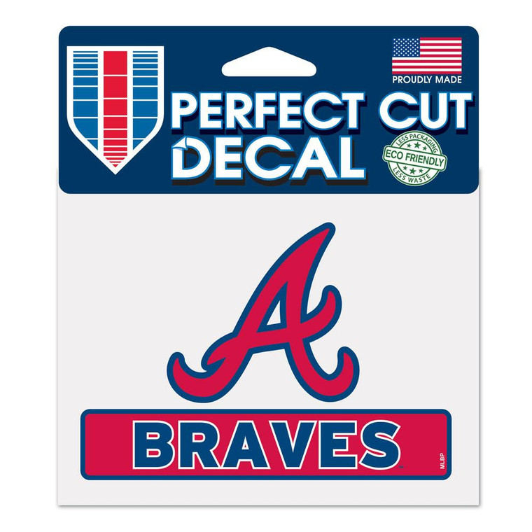 "Atlanta Braves Perfect Color Decal 4.5x5.75"""
