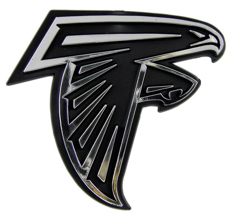 Atlanta Falcons Silver Auto Emblem