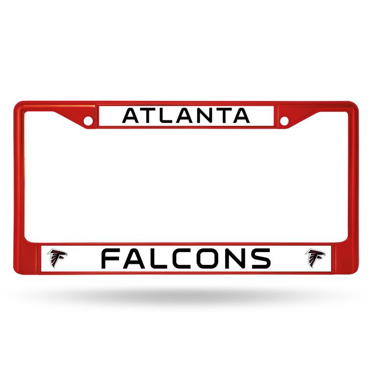 Atlanta Falcons Red Metal License Plate Frame
