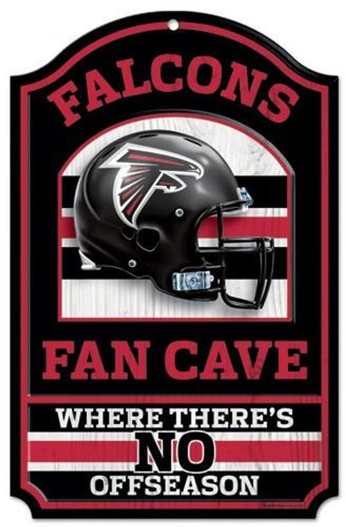 """Atlanta Falcons 11x17"""" Wooden Fan Cave Sign"""