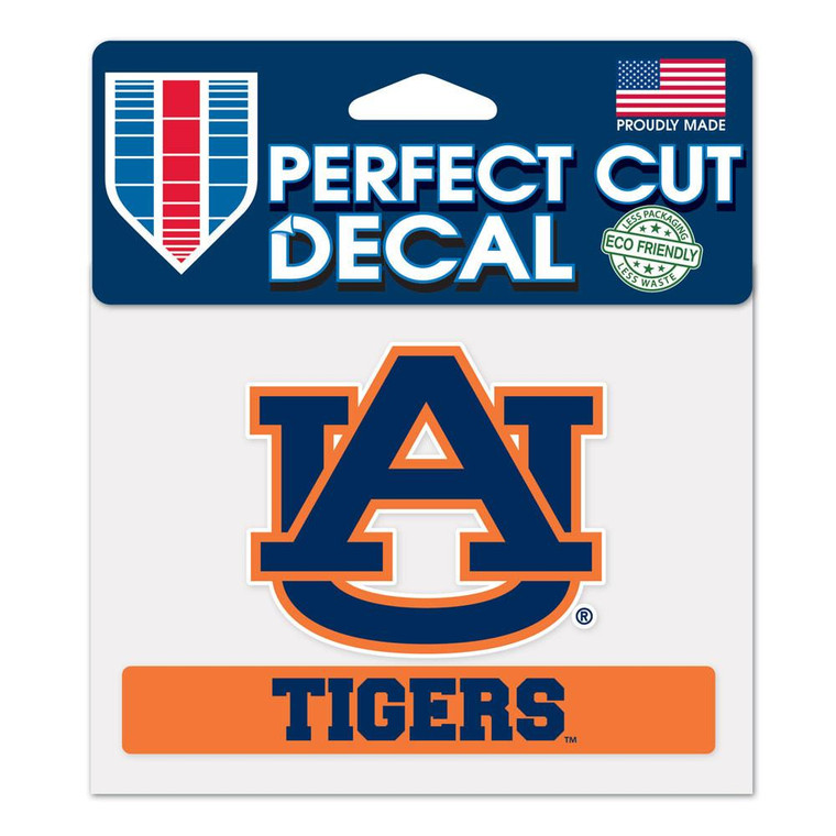 """Auburn Tigers Perfect Color Decal 4.5x5.75"""""""